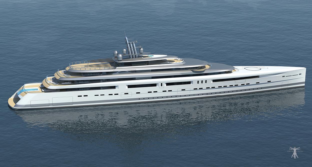 mega yachts by Vitruvius