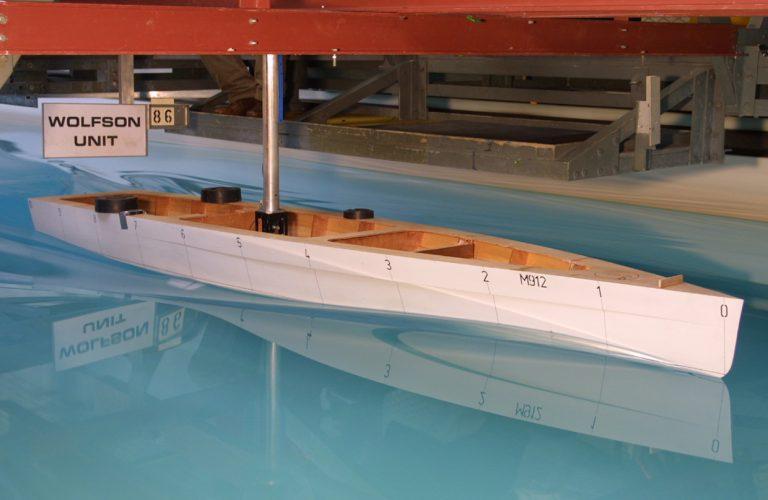 tank testing a yacht