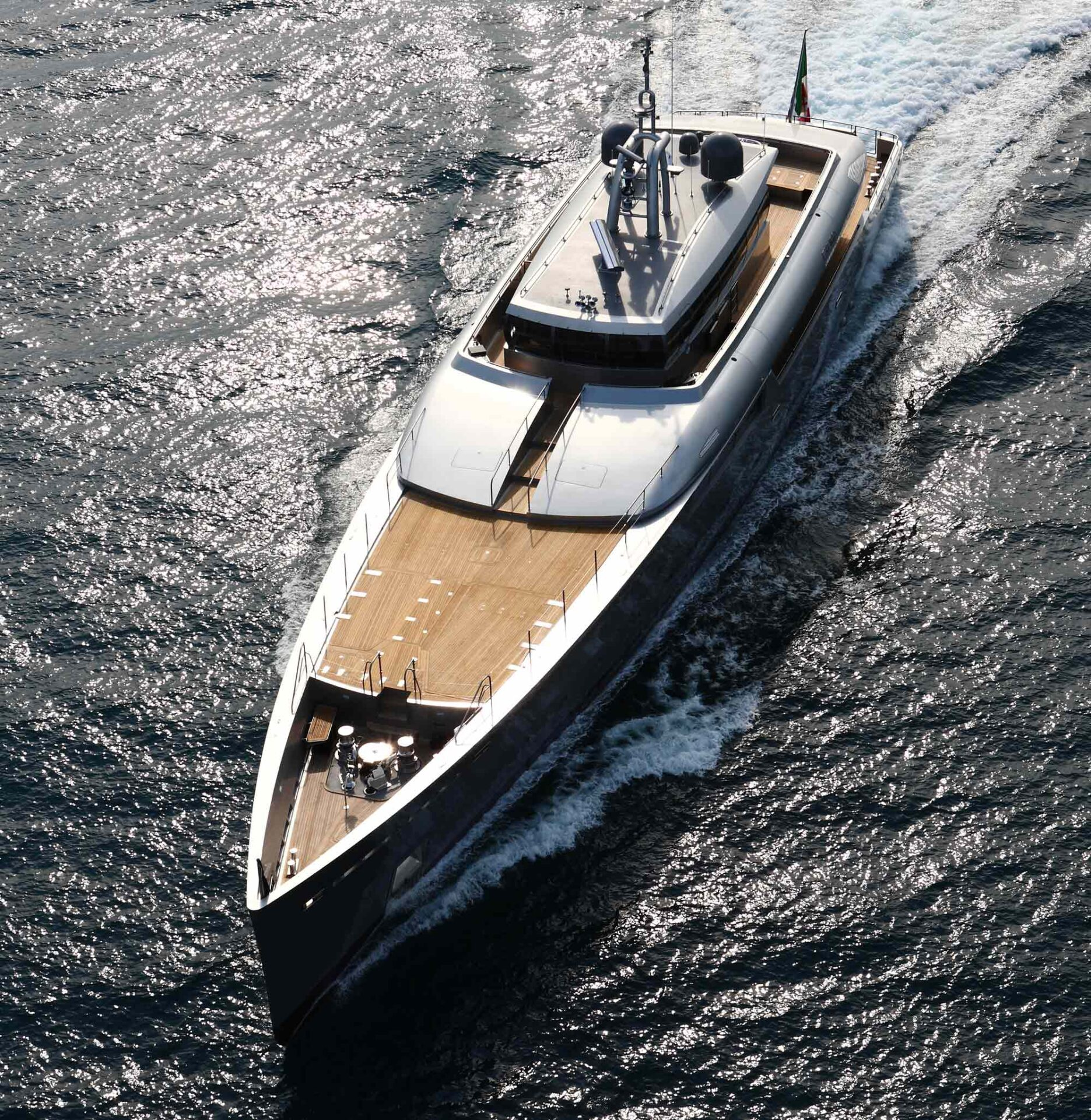 explorer yacht on the ocean