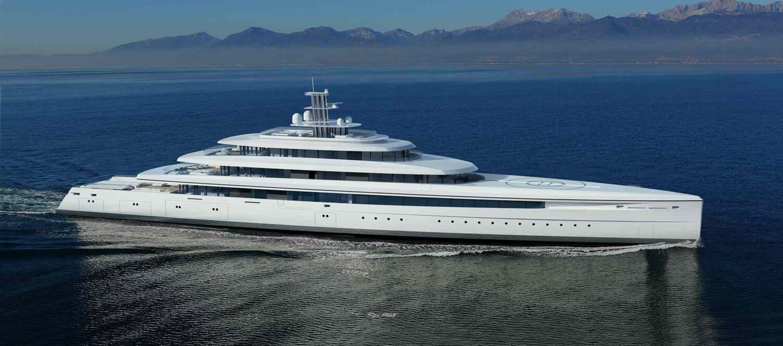 megayacht vitruvius yachts on the ocean