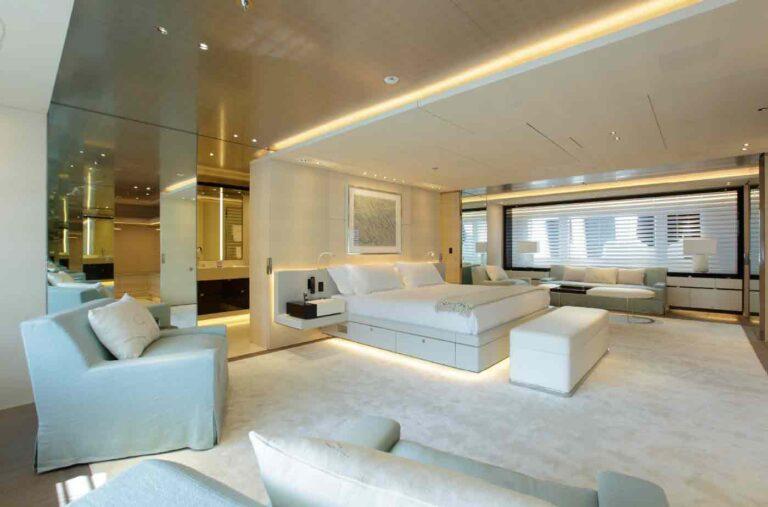 Inside motoryacht Grace E