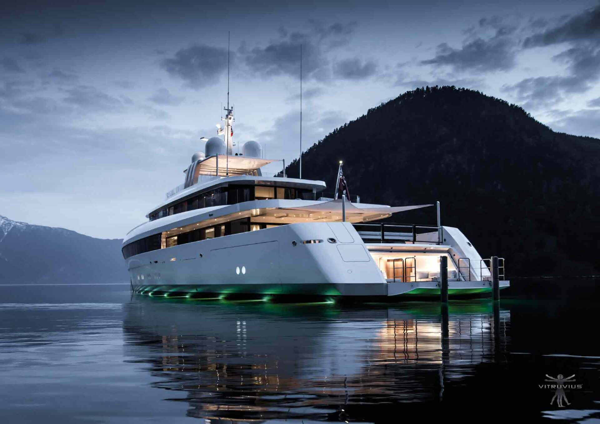 Najiba motor yacht on the sea
