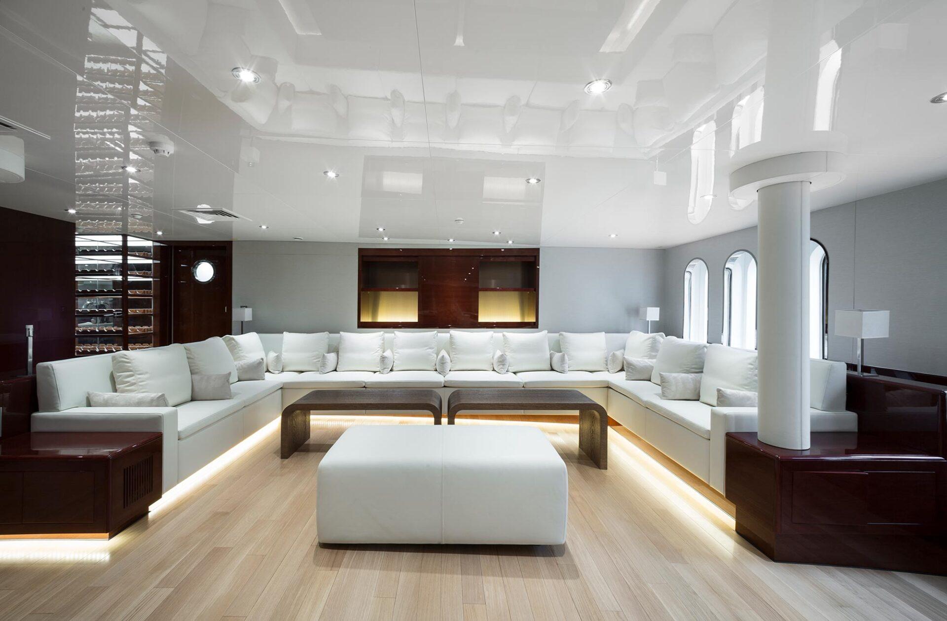 Enigma interior design yacht